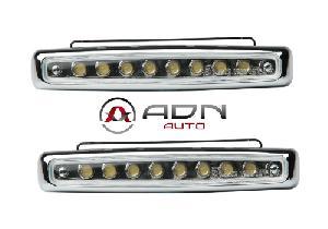 Feux diurnes - DRL ADNAutoMID - 2 Feux de position - 8 LEDs - 112x38x24mm - 12V 1W 6000K