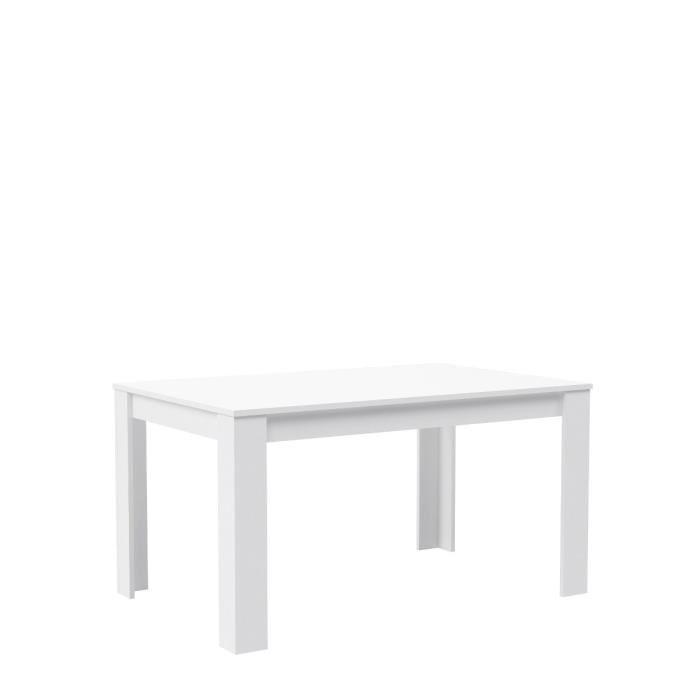 Finlandek table a manger kova 6 a 8 personnes 160x90 cm for Table salle a manger blanc mat