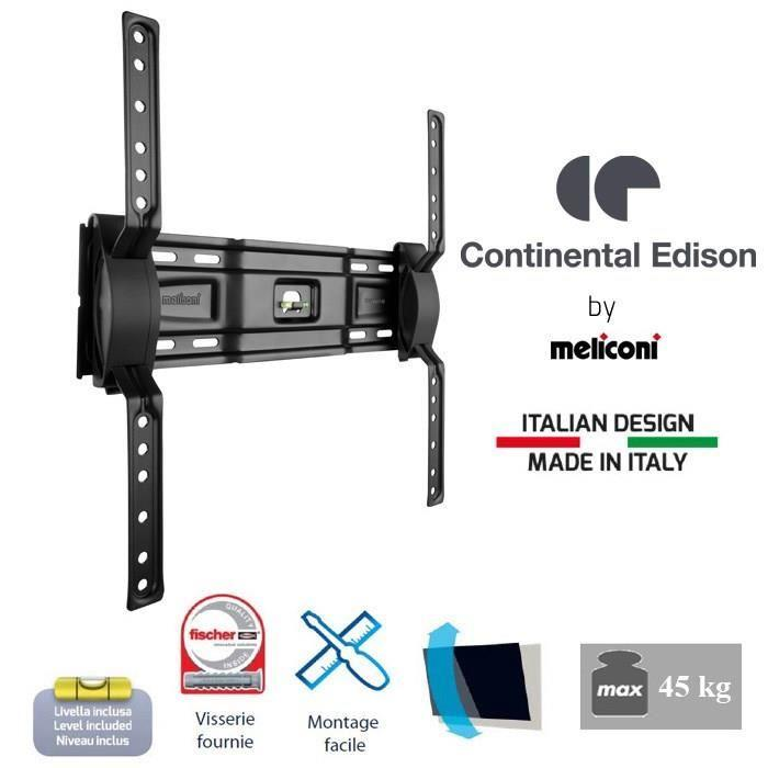 continental edison 400ncl12 support tv mural inclinable. Black Bedroom Furniture Sets. Home Design Ideas