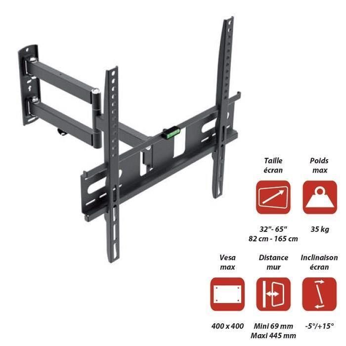 Inotek moov 3265 support tv mural orientable de 32 a - Notice support mural tv ...
