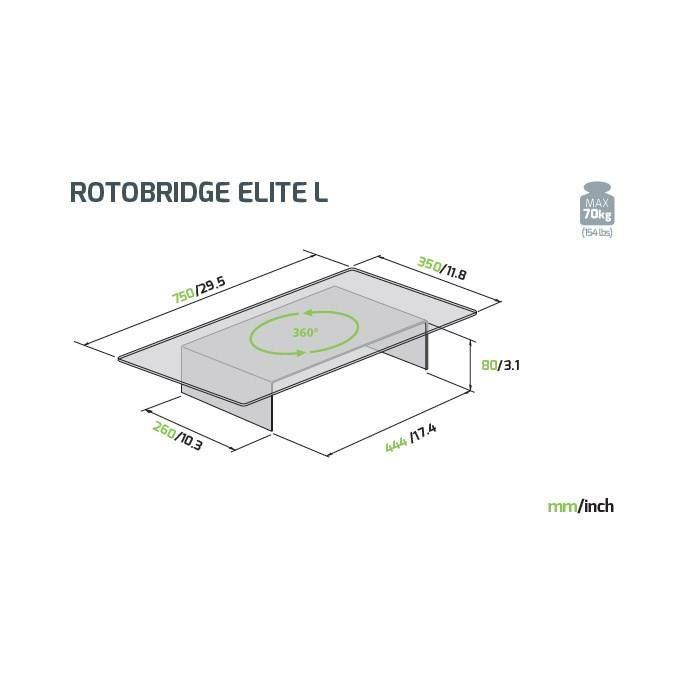 Meliconi Rotobridge Elite L Plateau Tv Rotatif 312344