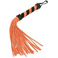 Fouets LRDP - Fouet en cuir orange et noir 28 cm