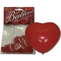 Gadget et Humour LRDP - 6 ballons rouges en forme de coeur