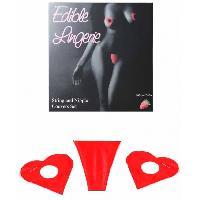 Gadget et Humour Secret Play - Dessous comestibles saveur Fraise - Rouge