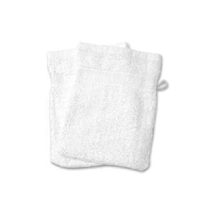 Gant De Toilette Soleil D Ocre - 2 gants de toilette 100% Coton 550gr/m² DOUCEUR Blanc