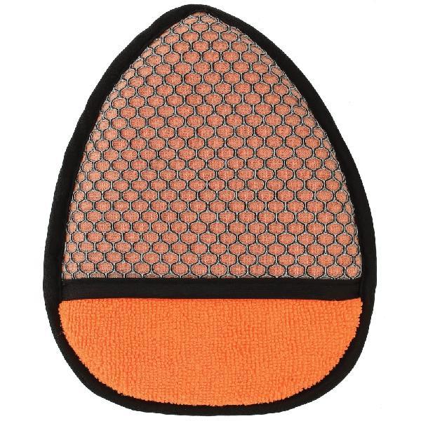 Gant double face microfibre pour roues - Orange-Gris