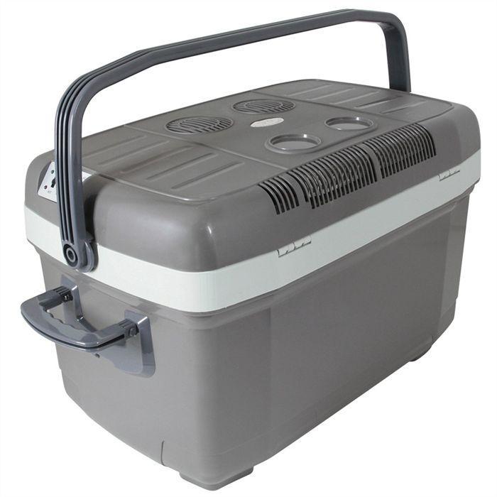 turbocar turbocar glaciere 45l 12 230v gris blanc 343866. Black Bedroom Furniture Sets. Home Design Ideas