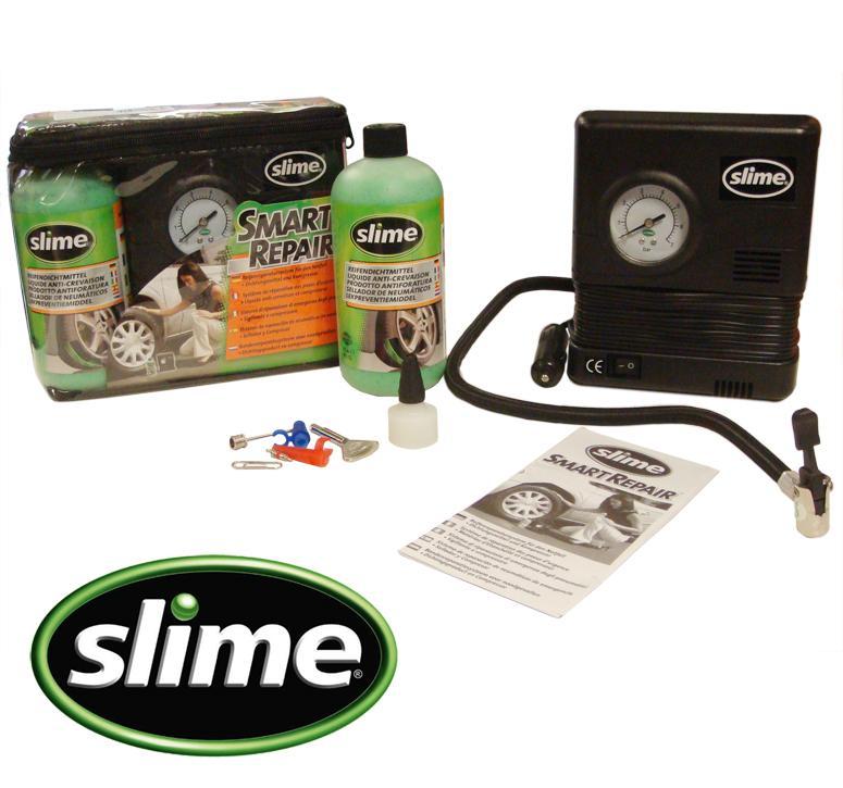 slime smart repair kit slime 473ml et compresseur pneumatique voiture 129906. Black Bedroom Furniture Sets. Home Design Ideas