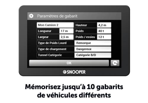 snooper gps poids lourds snooper pl6600 carto gratuite a vie 351693. Black Bedroom Furniture Sets. Home Design Ideas