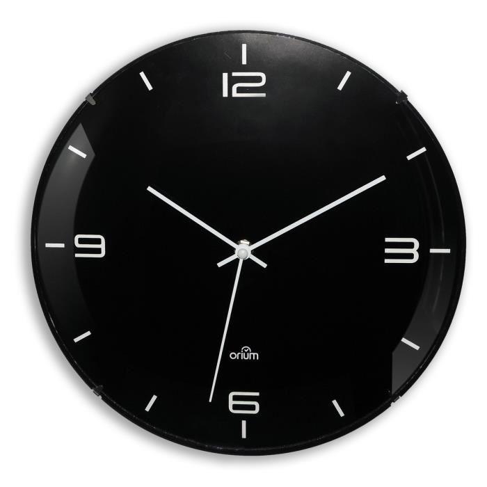 aucune eleganta horloge silencieuse 29 cm noir et blanc 468431. Black Bedroom Furniture Sets. Home Design Ideas