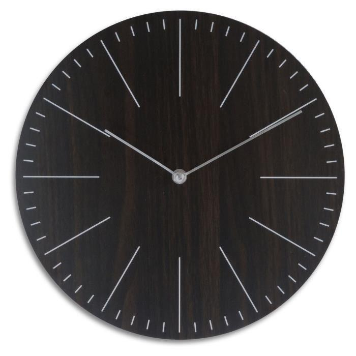 aucune horloge a piles classy 30 cm noir 309603. Black Bedroom Furniture Sets. Home Design Ideas