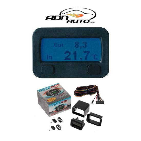 Horloges et thermometres adnautomid inter exter 12v for Thermometre exterieur voiture