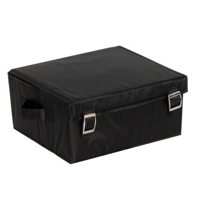 aucune boite de rangement a couv large noir 416773. Black Bedroom Furniture Sets. Home Design Ideas