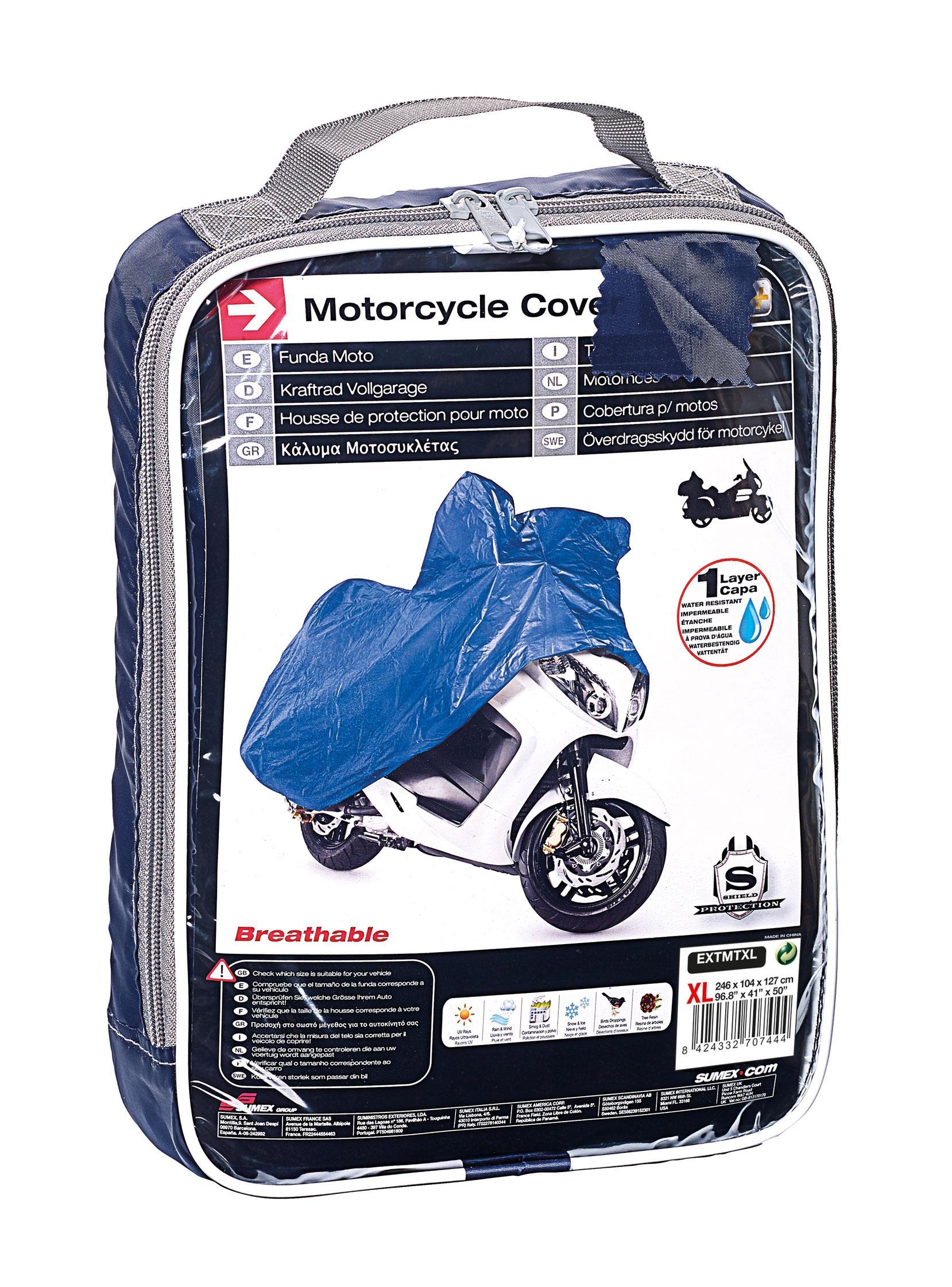 Housses de protection adnautomid moto xl 246x104x127 for Housse protection moto