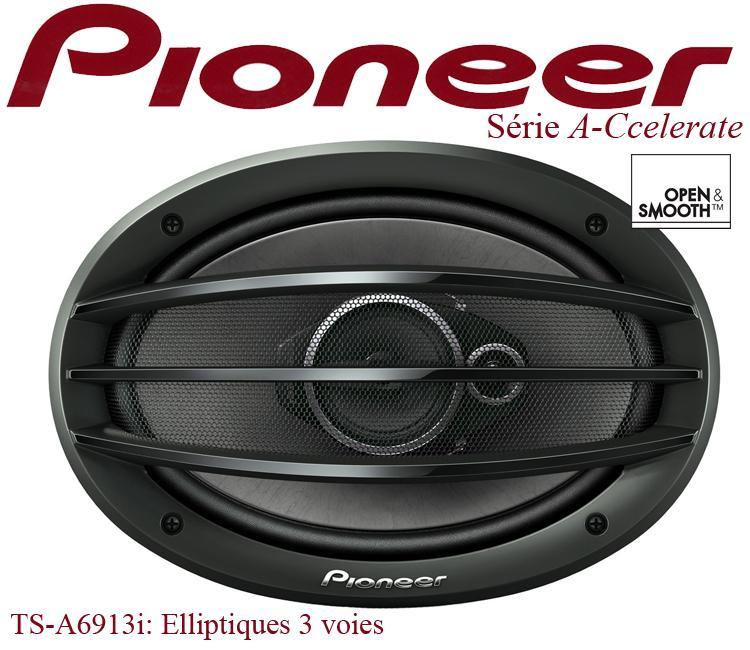 haut parleur pioneer ts a6913i 2 haut parleurs 3 voies elliptiques 121654. Black Bedroom Furniture Sets. Home Design Ideas