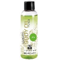 Huile de massage Shiatsu - Huile de Massage Comestible Saveur Citron - 100 ml