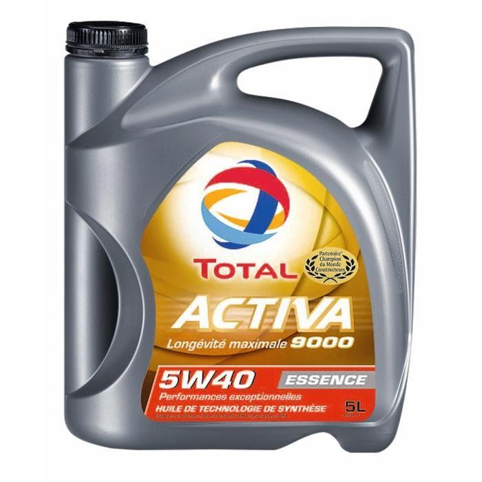 total total huile auto activa 9000 essence 5w40 5l 244263. Black Bedroom Furniture Sets. Home Design Ideas