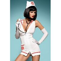 Infirmiere Obsessive - Robe Emergency Infirmiere par Obsessive XXL
