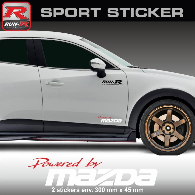 Autoradio Facade Et Supports Mazda, Run-R Stickers Sticker