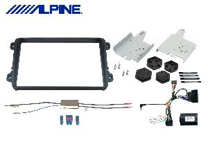 Integration VW Alpine - KIT-8VW pour INE-W928R Facade autoradio VW CC/EOS/Golf/Jetta/Passat/Polo/Scirocco - Quadlock - Noir