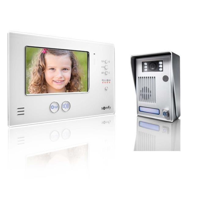 somfy interphone video couleur 2 fils avec ecran tft 7. Black Bedroom Furniture Sets. Home Design Ideas