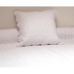 couvre lit soleil d ocre SOLEIL D'OCRE Couvre Lit Boutis 240x260 Blanc + 2 taies d'oreiller  couvre lit soleil d ocre