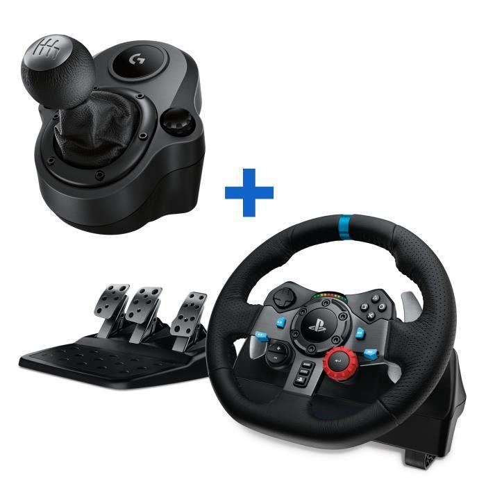 logitech volant de course g29 driving force ps4 et pc levier de vitesse driving force. Black Bedroom Furniture Sets. Home Design Ideas
