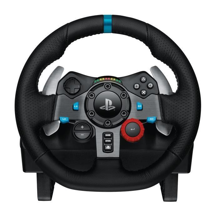 logitech volant de course g29 f1 2016 edition day one jeu ps4 390672. Black Bedroom Furniture Sets. Home Design Ideas