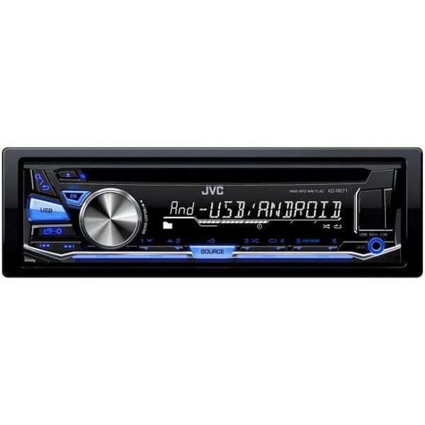 KD-R571 - Autoradio CD/MP3/WMA/RDS/Android - USB et AUX en facade - Couleur variable