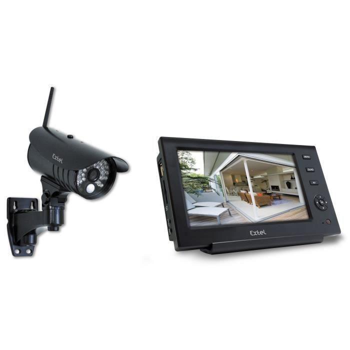 kit de surveillance sans fil o 39 kit 082800 avec camera exterieure et ecran lcd couleur 7 360979. Black Bedroom Furniture Sets. Home Design Ideas