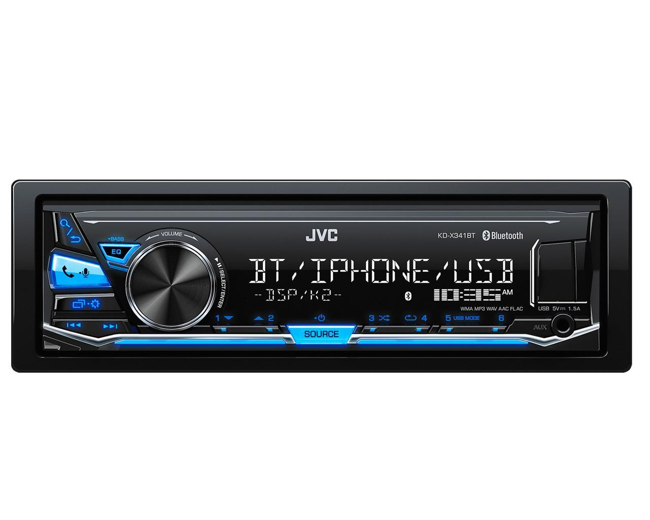 kd x341bt autoradio numerique usb aux bluetooth ipod iphone android bleu kd x351bt 455578. Black Bedroom Furniture Sets. Home Design Ideas