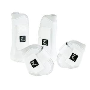 Kit Securite - Protection Horze - Ensemble complet de guetres pour chevaux. taille Cob. blanc