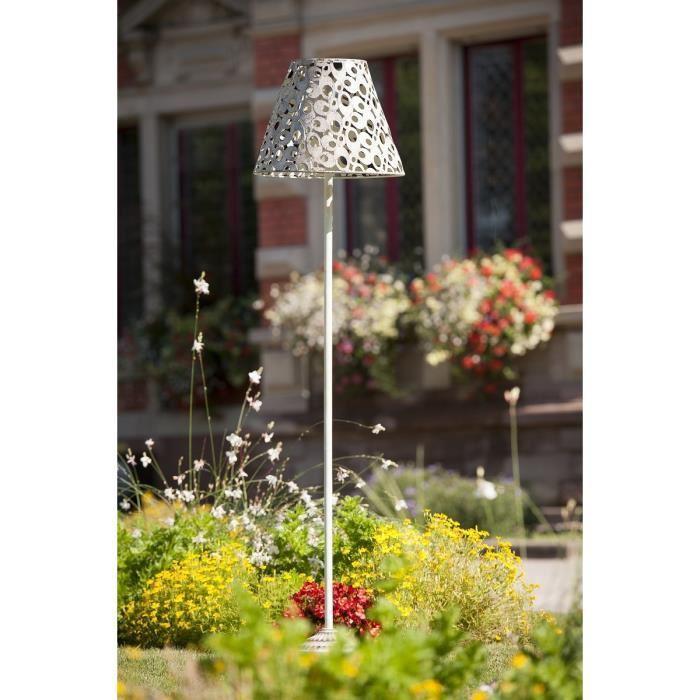 Galix galix lampadaire solaire m tal tres clairant 337031 for Lampe solaire jardin de couleur