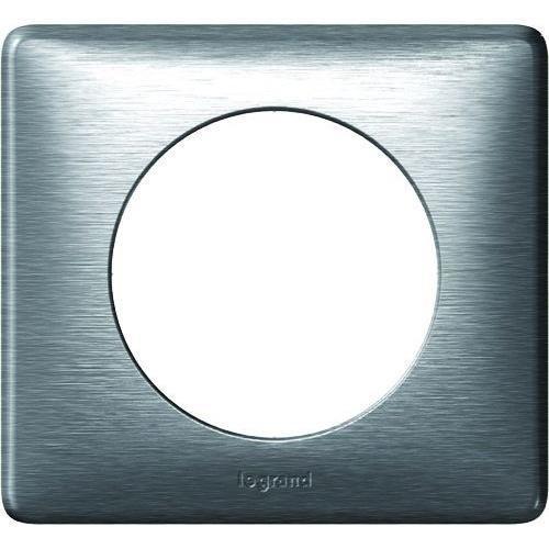 legrand legrand plaque de finition 1 poste celiane anodise alu 250998. Black Bedroom Furniture Sets. Home Design Ideas