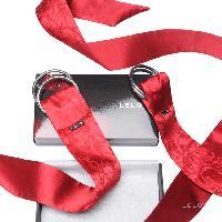 Liens et Menottes LRDP - Entraves en soie Boa Pleasure Ties - rouge
