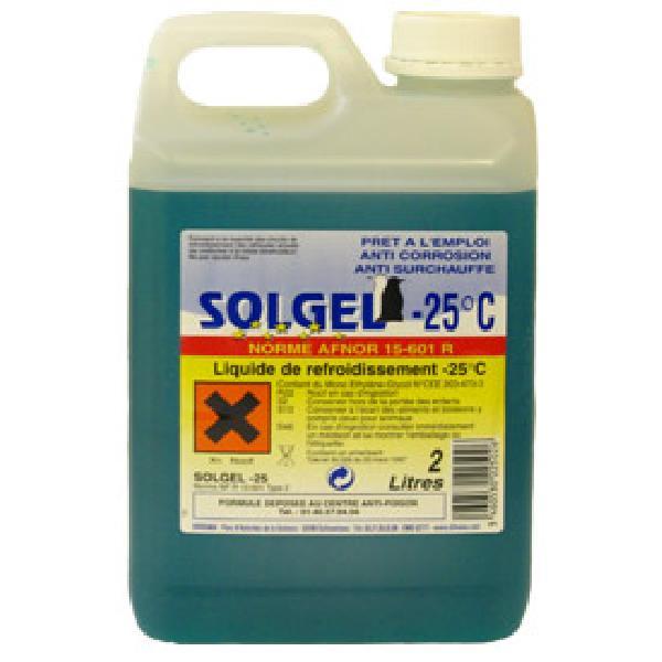 Liquide refroidissement -25 degres - 2L - Solgel
