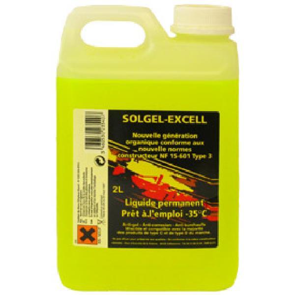 Liquide refroidissement universel -35 degres - 2L - Solgel