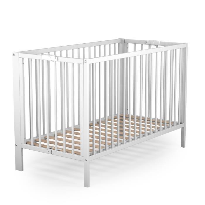 at4 at4 lit pliant laque blanc 60 x 120 cm 265309. Black Bedroom Furniture Sets. Home Design Ideas