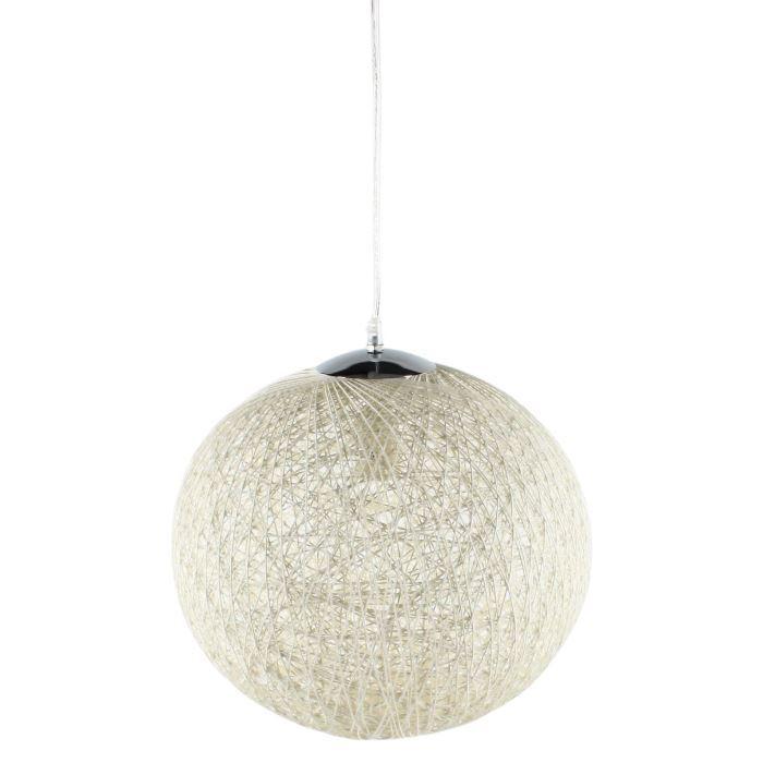 aucune baya suspension rotin diam 35 x 140h blanc 265451. Black Bedroom Furniture Sets. Home Design Ideas