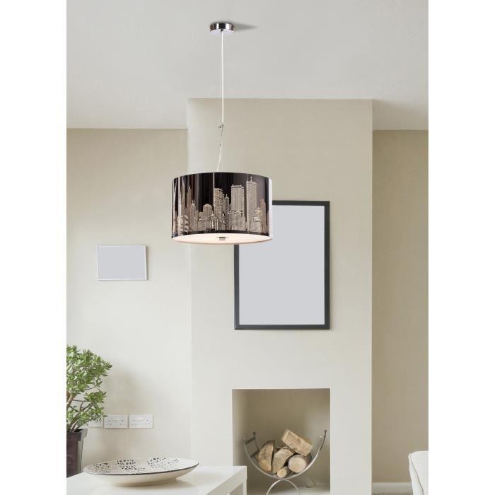 aucune new york suspension diam 40xh120 noir 246791. Black Bedroom Furniture Sets. Home Design Ideas