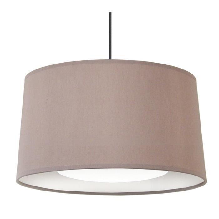 tosel alfena suspension abat jour 35cm taupe 337782. Black Bedroom Furniture Sets. Home Design Ideas