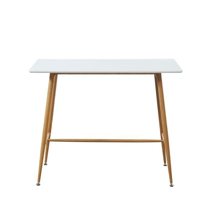 Mange debout table de bar table haute mid - Table mange debout blanc laque ...