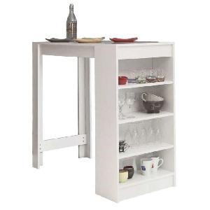 Aucune chili table bar avec rangements lat raux blanc 247143 - Table de bar avec rangement ...