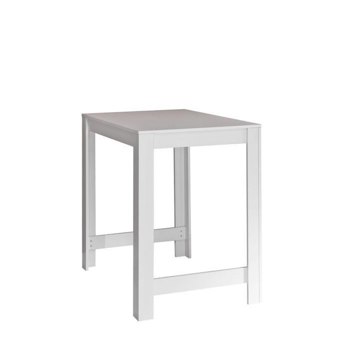 aucune curry table bar l110 cm pietement plateau blanc 265550. Black Bedroom Furniture Sets. Home Design Ideas
