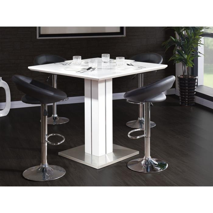 Aucune sandro table de bar 100cm blanc brillant 265551 - Table mange debout blanc laque ...