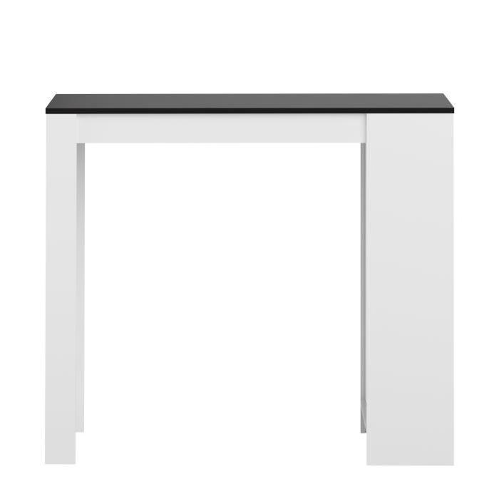 table bar de 4 a 6 personnes style contemporain melaminee blanc et noir l 115 x l 103 cm 573218. Black Bedroom Furniture Sets. Home Design Ideas