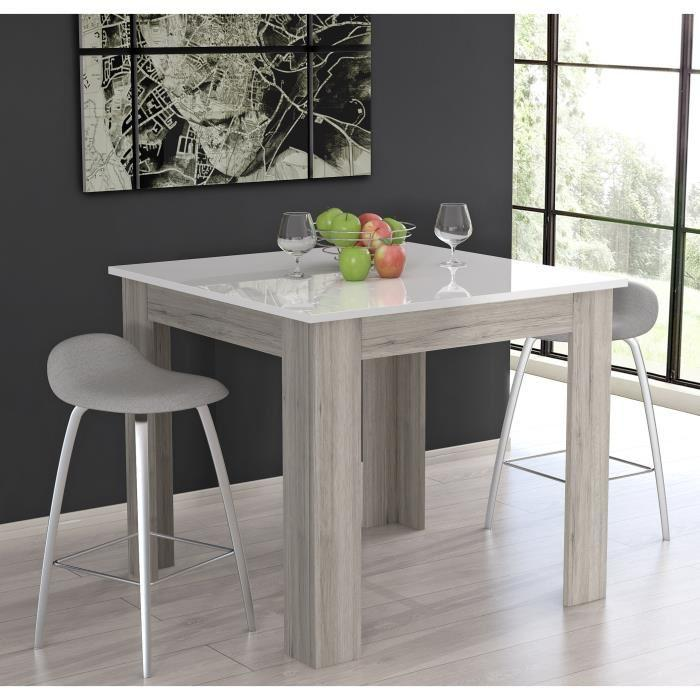 finlandek table de bar tietti 110x110cm laqu blanc. Black Bedroom Furniture Sets. Home Design Ideas