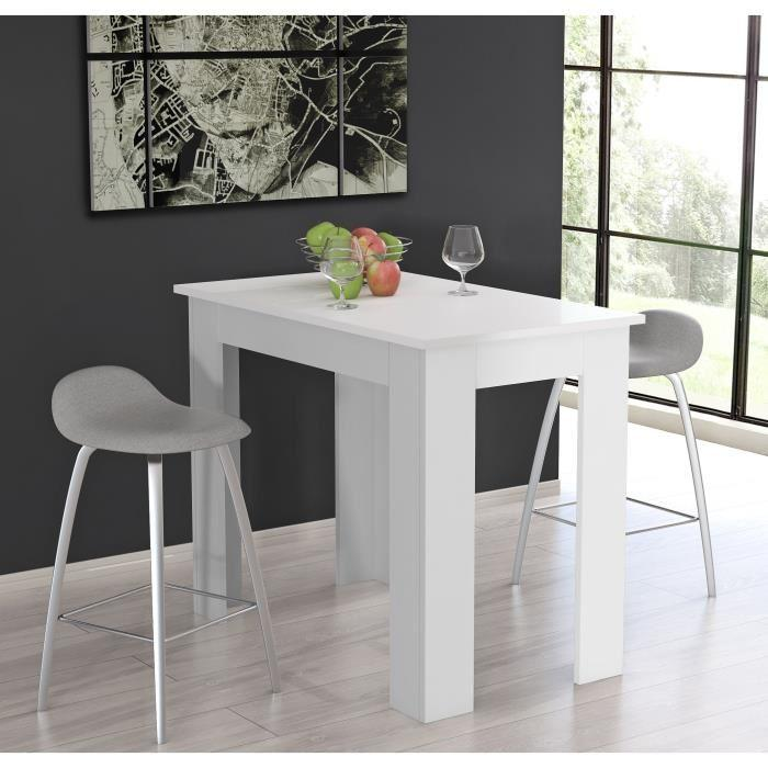 Finlandek table de bar tietti 120x95cm blanc mat 354975 for Table salle a manger 120 cm