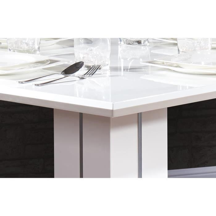 sandro table de bar 100cm blanc brillant 265551. Black Bedroom Furniture Sets. Home Design Ideas