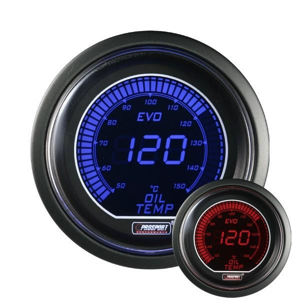 manometre de temperature huile prosport digital bleu rouge 415550. Black Bedroom Furniture Sets. Home Design Ideas